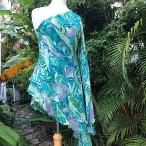 Exotic silk tunic  top /coverup